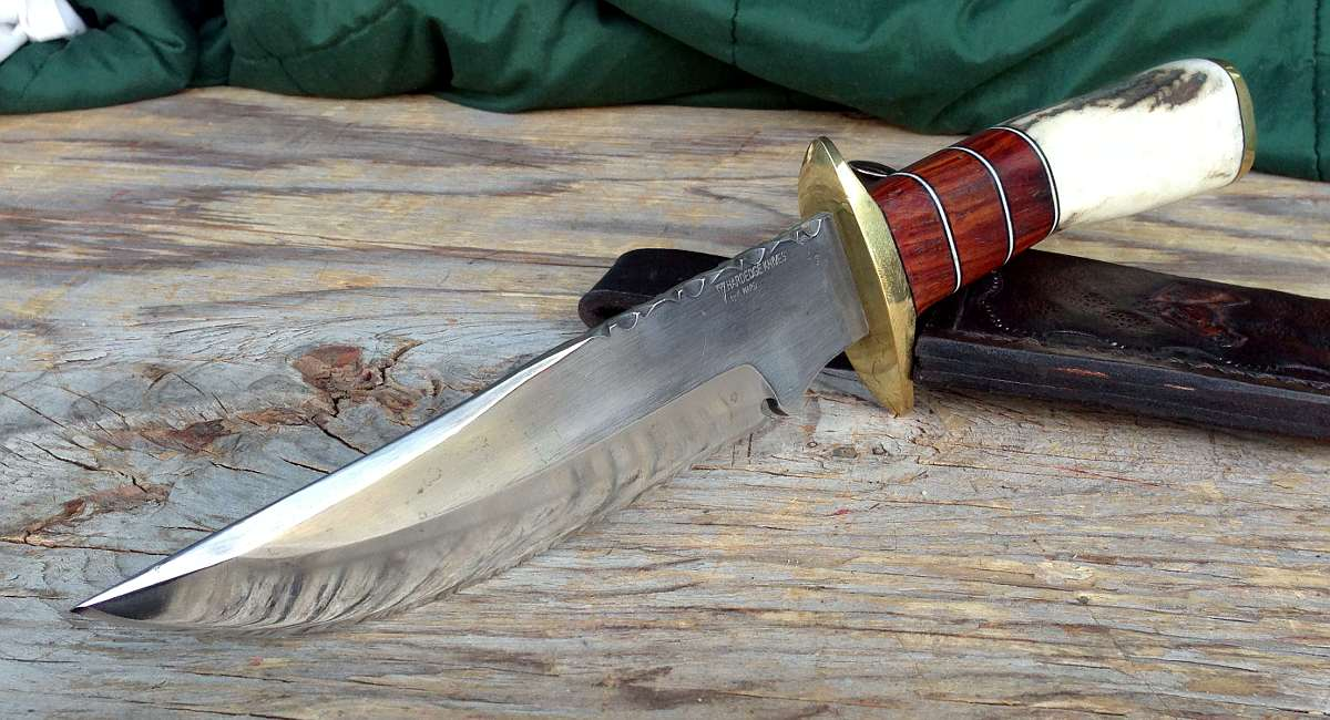 Wild Horse Bowie with Cocobolo and Elk antler   Hard Edge Knives